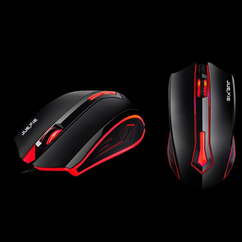 New Optical Wired Gamer Gaming Mouse LED Colorful Light Gamer Mause With Iron Inside For PC Laptop