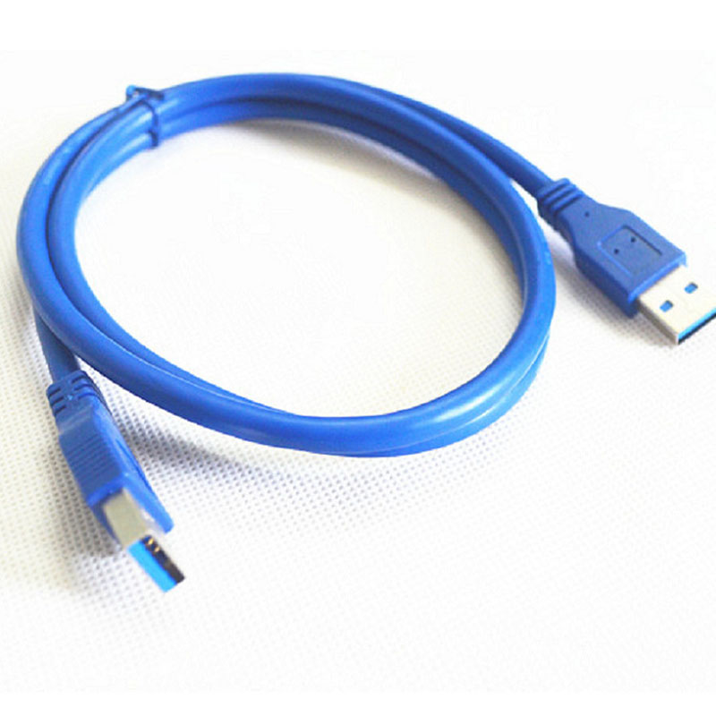 USB 3.0 A male to A Male Data Cable Blue Color for Mobile Hard Disk Drive