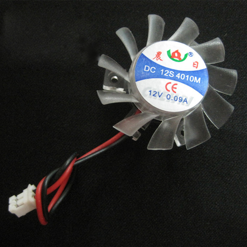 Hot Cooling Card Fan 2.6cm Hole Pitch Radiator Heat Sink Cool Fans 4010
