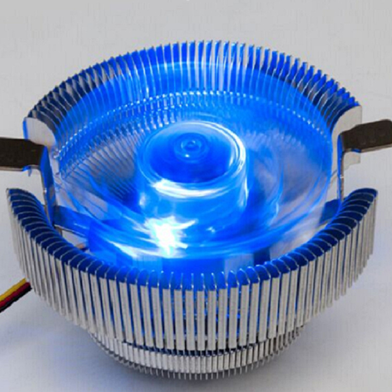 Hot Ice Blue Desktop Computer CPU Radiator Computer CPU Cooler Heatsink Fan