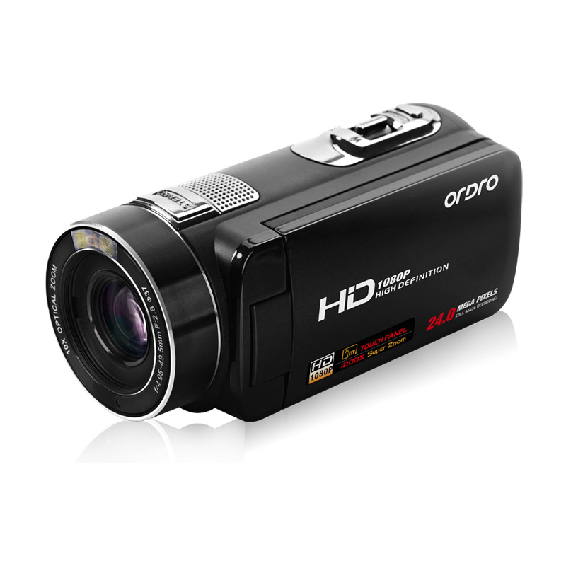 HDV-Z80 1080P Full HD Digital Video Camera Recorder With Rotation LCD Touch Screen