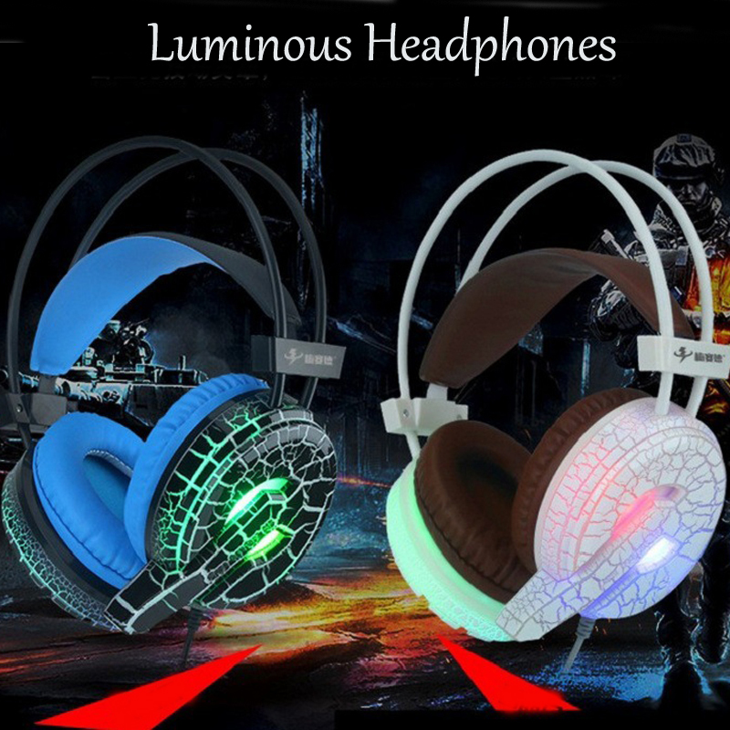 High-End Crack Luminous Wired E-sport Game Headphones/Headset Wired Earphone H6