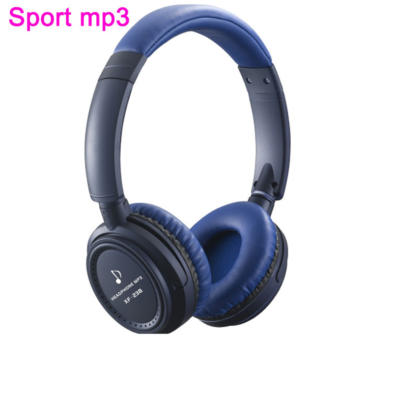 Folding Stereo Headphone Sport MP3 Player FM TF Card Slot LED MP3 Music Player