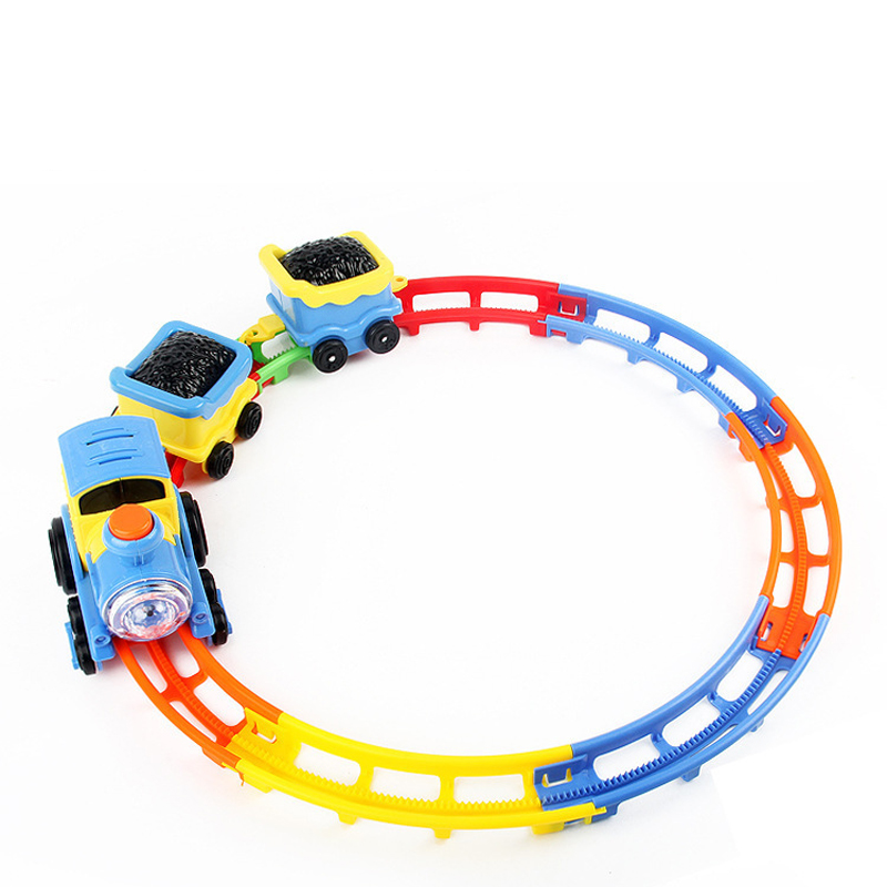 Plastic DIY Electric Train Play Set Educational Toy for Children
