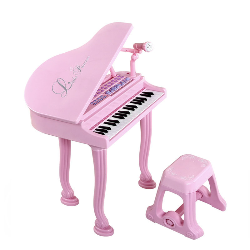 Electronic Learning Musical Instruments Piano Toy With Microphone Educational Toys For Girl