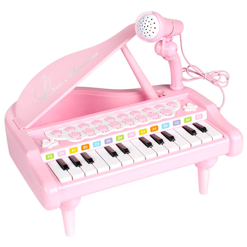 Piano With Microphone Electronic Learning Education Toys For Girl