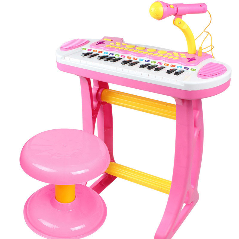 Electronic Musical Piano With Microphone Children Educational Intelligence Toy