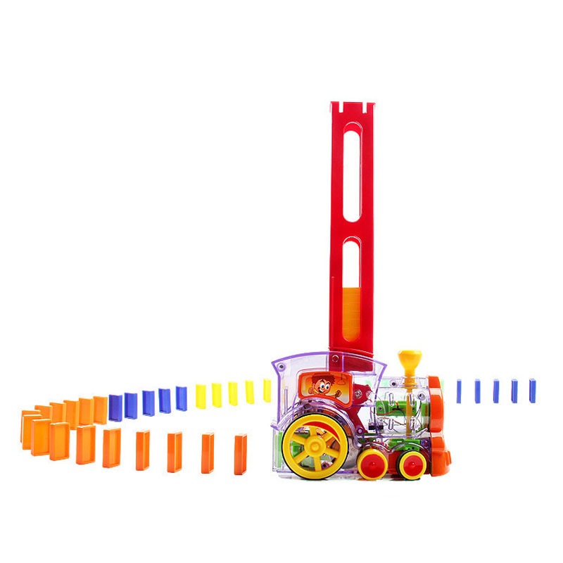 Domino Transparent Small Train Building Blocks Children's Toys