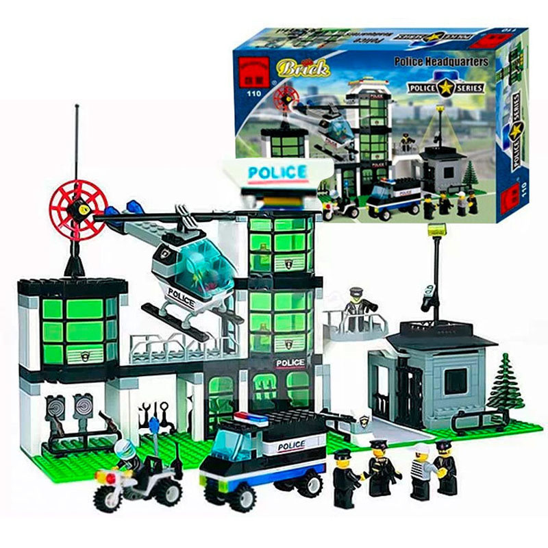 Police Series Police Department Building Blocks Children Educational Assembled DIY Toys