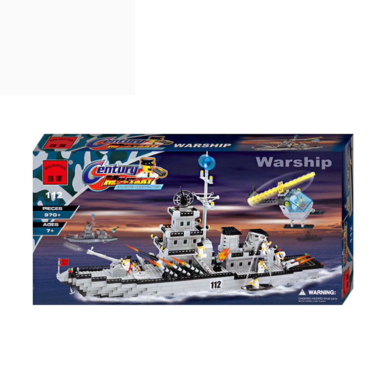 Enlighten 112 Battle Cruisers Ship Series Building Blocks Minifigure Bricks Military Toys