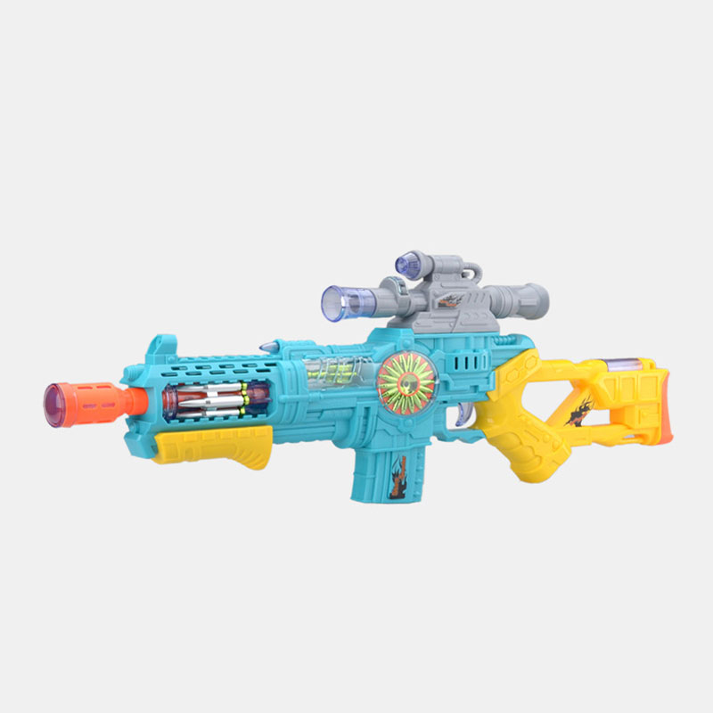 Infrared Light Emitting Music Submachine Guns Electric Toy Gun Military Model