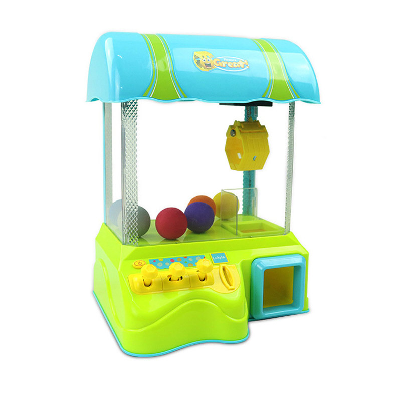 Mini Doll Coin Operated Game Machine Caught Doll Toys With Music