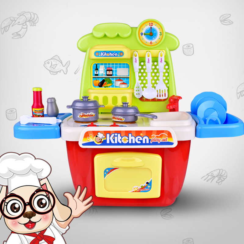 Kitchen Cooking Utensils Cutlery Sets Play House Game for Children