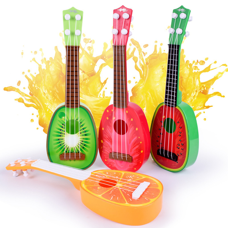 Wooden Stringed Fruit Ukulele Mini Guitar Childhood Educational Simulation Instrument