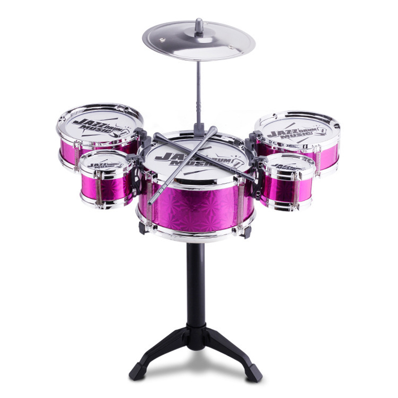 Musical Instrument Toy Playset Jazz Drum Set with 5 Drums for Kids