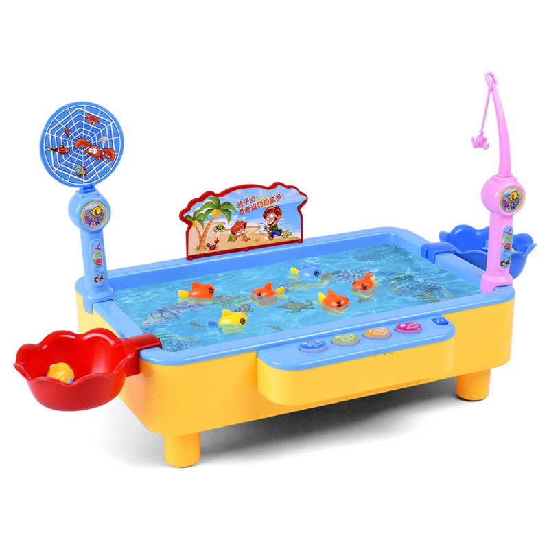 Large Multifunctional Rotating Children's Electric Fishing Toys Interactive Game