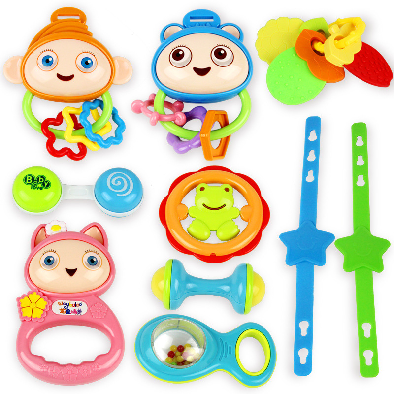 Cute Plastic Baby Rattles Educational Toys for Children