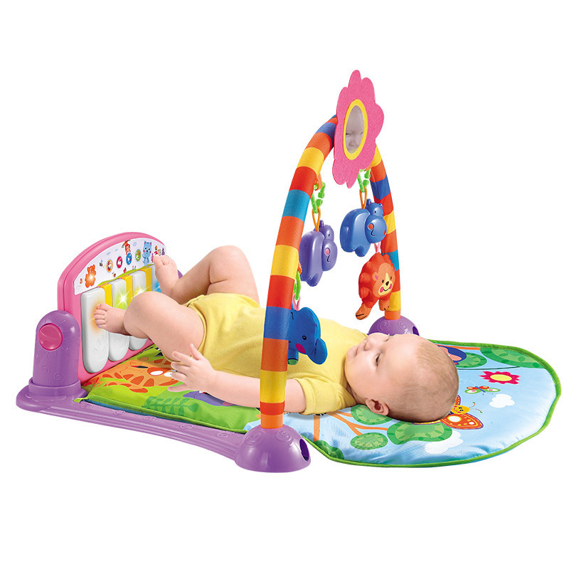 Baby Fitness Frame Multifunction Foot Piano Music Game Blanket Kids Crawling Mat Cradle Toys