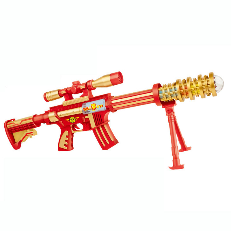 Infrared Sighting Plastic Electric Sound and Light Gun Christmas Toy Gift
