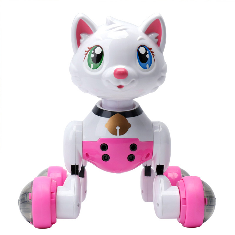 Voice Control Electronic Cat RC Intelligent Pet Electric Pets Kids Gift