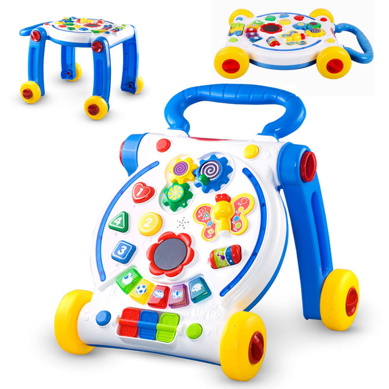 Children Lovely Learning Walking Tools with Music Kids Walker Stroller Toys