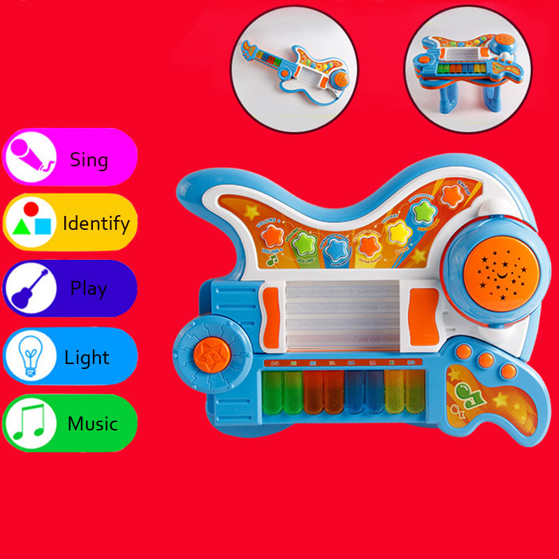 Children Music Bell Toy Guitar Baby Educational Musical Piano Toy Gift