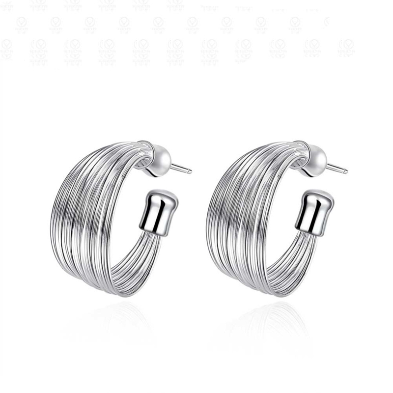 New Arrival Round Stud Earrings Casual 925 Sterling Silver Jewelry For Women