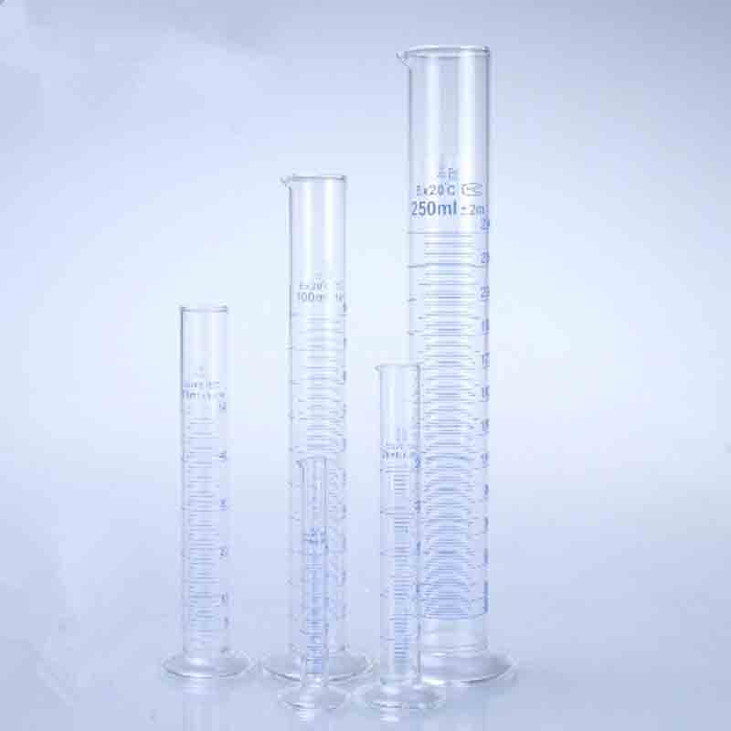 500ml Glass Measuring cylinder Graduated Cylinders Container Tube for Lab Supplies Laboratory Tools