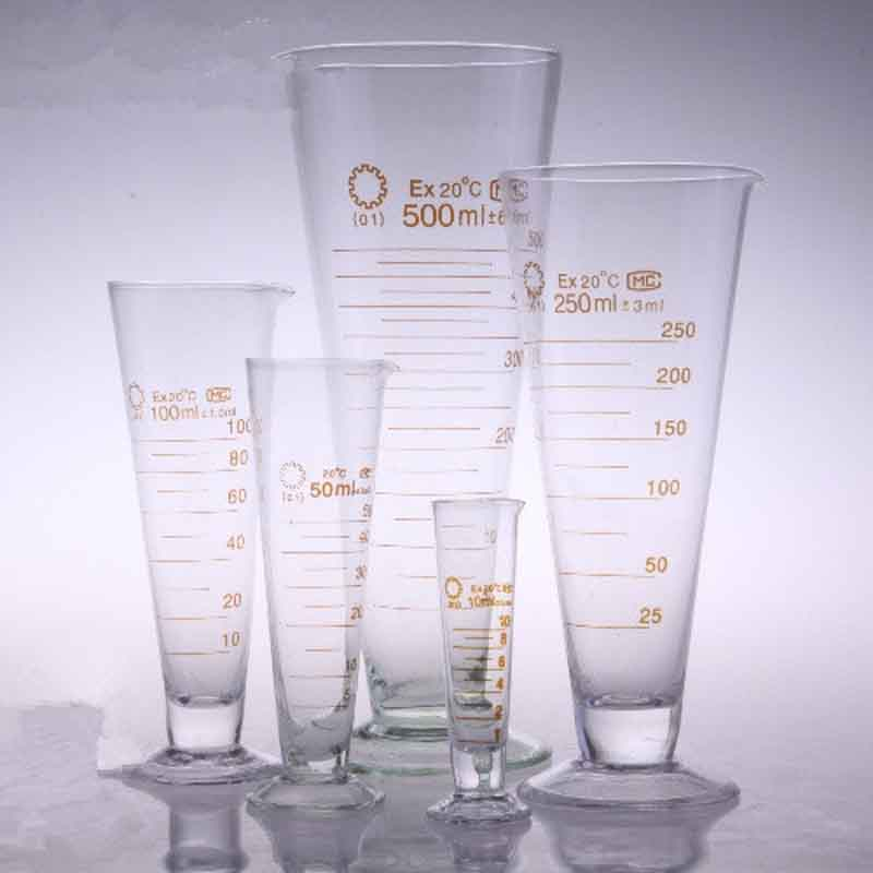 1000ml Glass measuring cup cone glass Half line scale lab tools