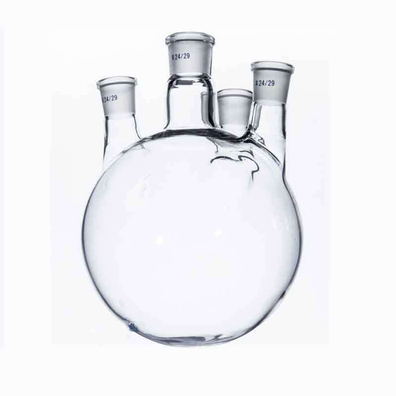 1000ml/24*24*24*24 standard grinding glass flask Four neck thick wall reaction bottle