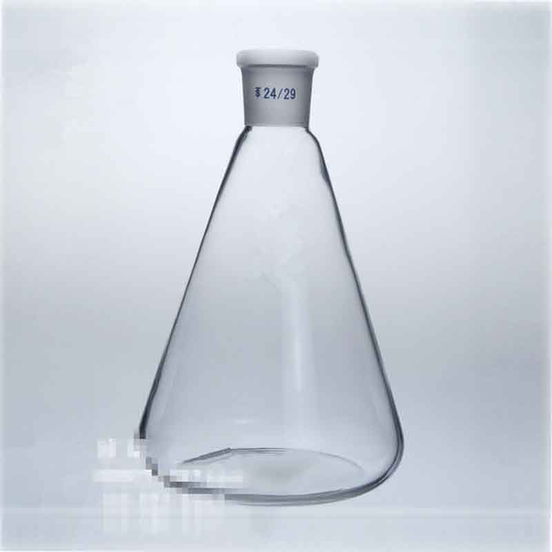 3000ml/24# Glass Grinding triangle flask standard cone bottle Lab Chemistry Tank