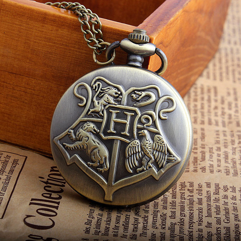 Hot Sale Retro Big Letter G Hogwarts Harry Potter Pocket Watch