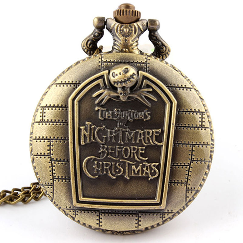 Nightmare Before Christmas Vintage Quartz Pocket Watch
