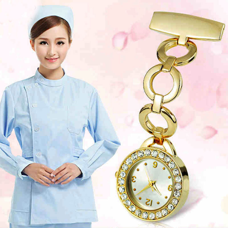 Clip-on Brooch Nurse Fashion Luxury Pocket Watch
