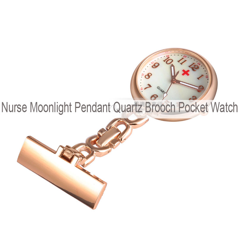 Nurse Moonlight Pendant Quartz Brooch Pocket Watch