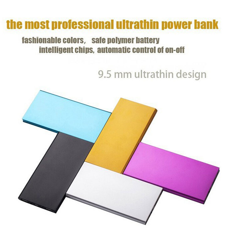 9.5mm Ultrathin Portable Mobile Power Bank External Battery For Mobile Phones