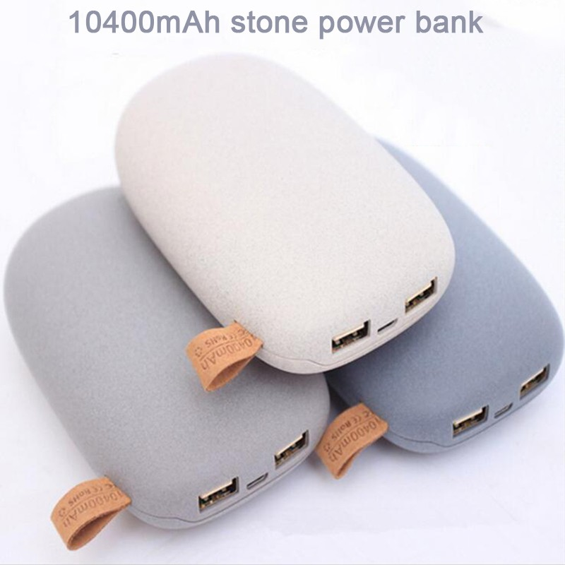 Cute Cobblestone Power Bank 10400mAh For Mobile Phone Tablet PC
