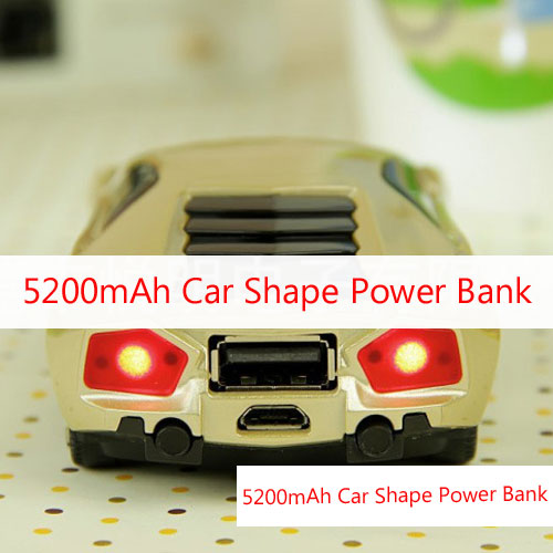 5200mAh Car Shape Power Bank Battery Charger For Mobile Phone Tablet