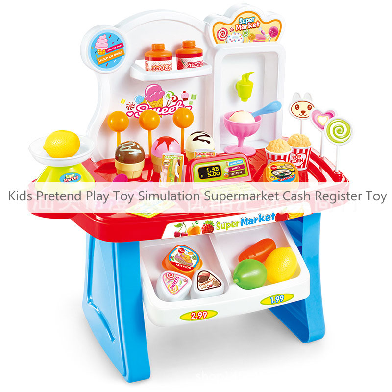Kids Pretend Play Toy Simulation Multifunctional Supermarket Cash Register Toy