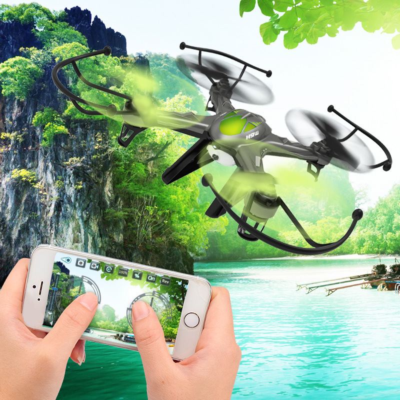 Real Time Transmission Four Axis Aerial Drone RC Drone Airplane With Camera   JJRC H9W