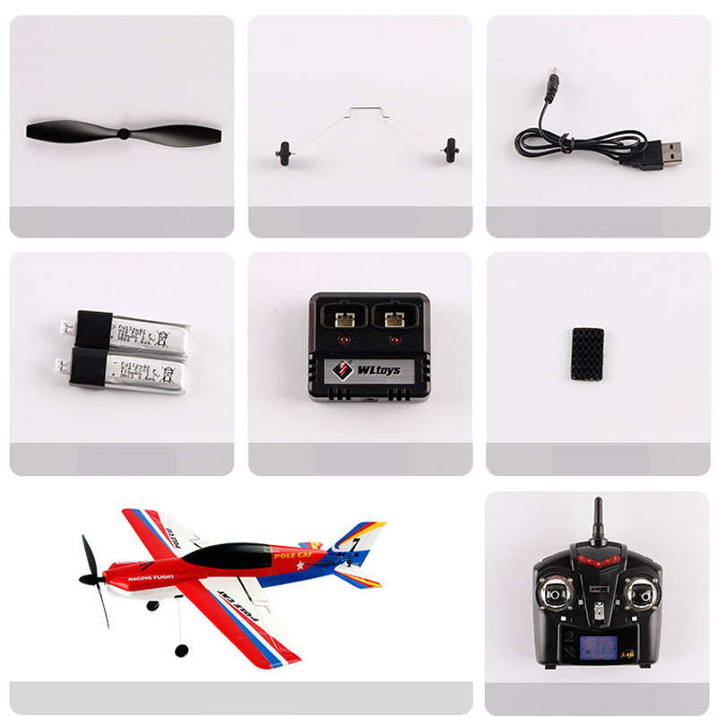 WLtoys F939-A 2.4GHz 4 Channels Remote Control RC Airplane Toy