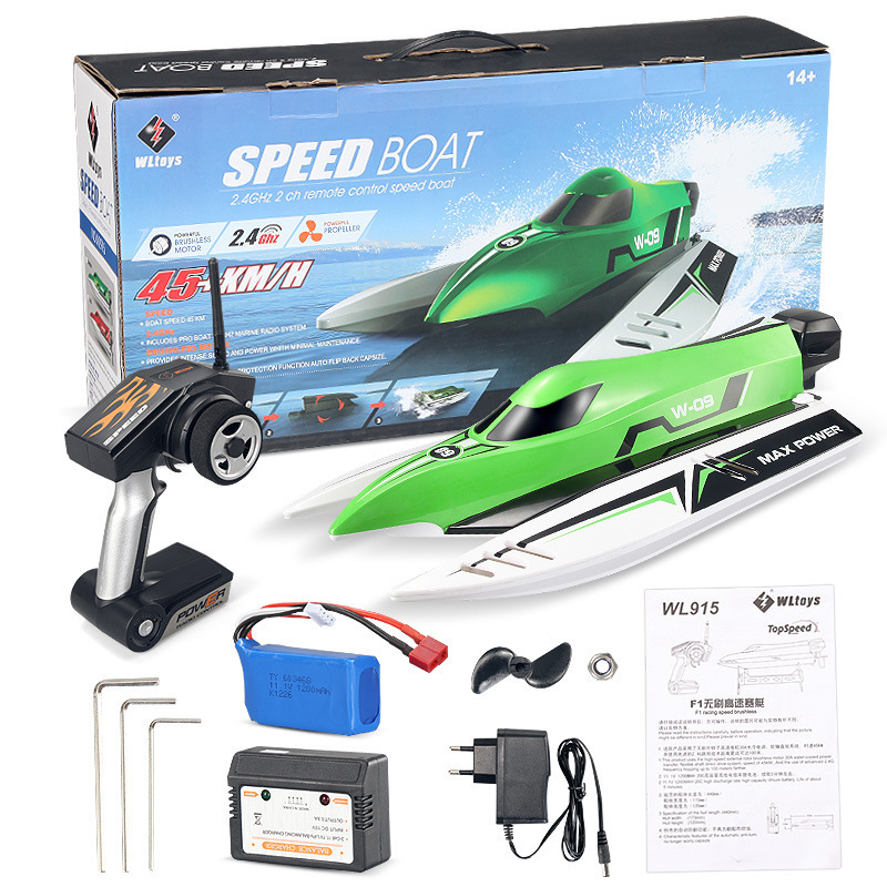 WL915 2.4GHz RC Brushless Boat 45km/h High Speed RC Toys For Kids