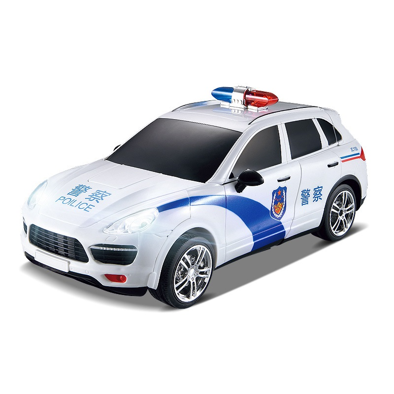 Car Models Deformation Robot Police Transformation RC Car Toys for Children TT664J