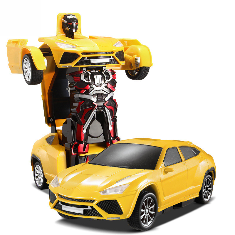 A Key Deformation Robot Remote Control Car Model Electronic Toys for Children