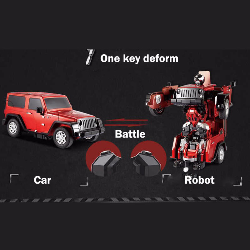 Jeep Wrangler Transformation Remote Control Robot Car Boys Birthdat Gift