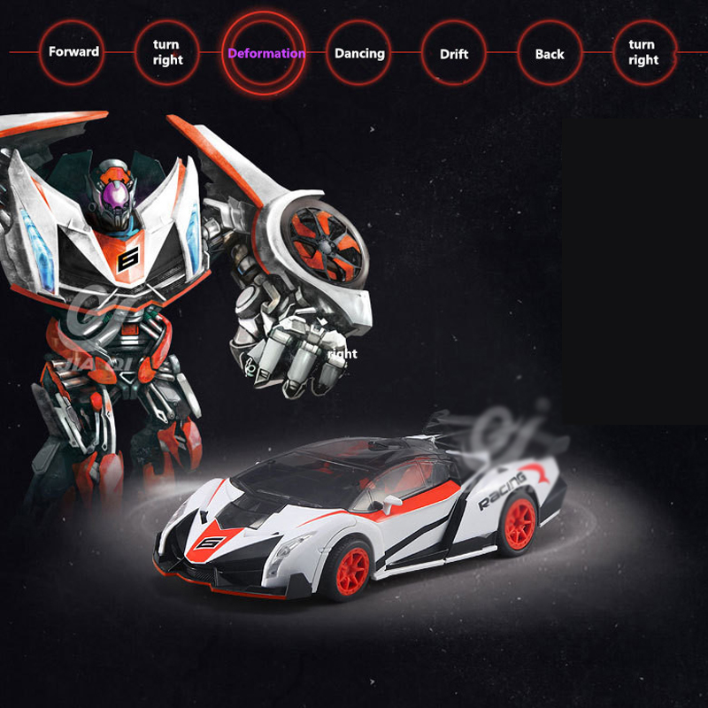 2.4Gh Remote Control Car One Key Deformation Between Robot and Car