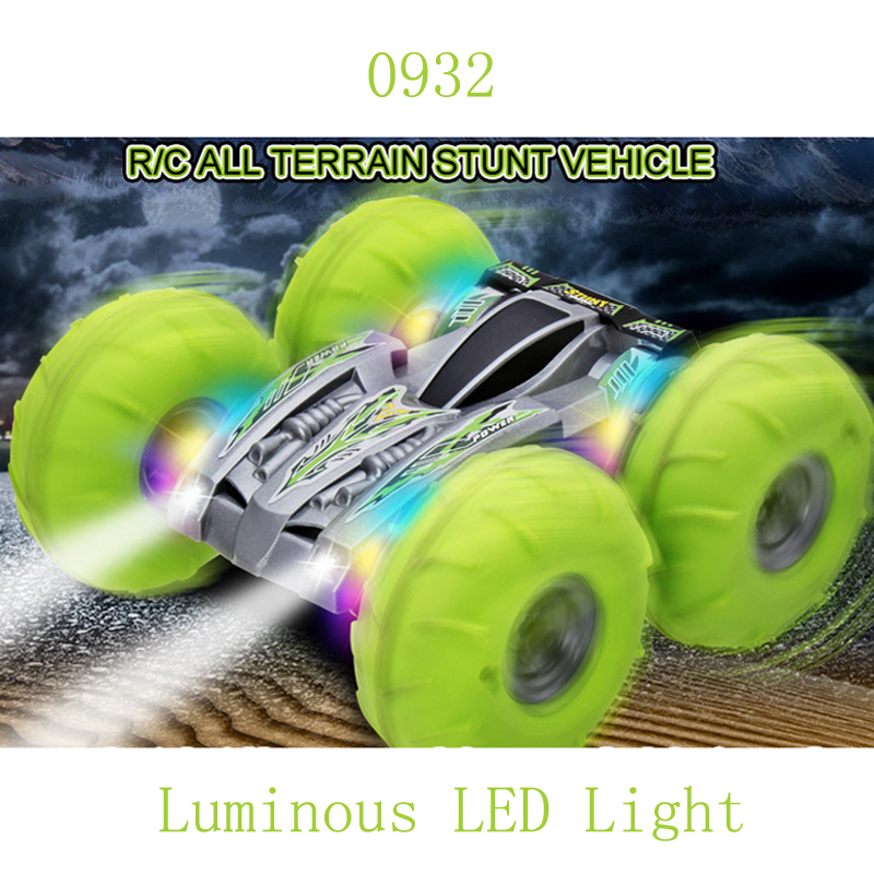 0932 Inflatable Tire Off-road Jump With Light RC Car 2.4G High Speed