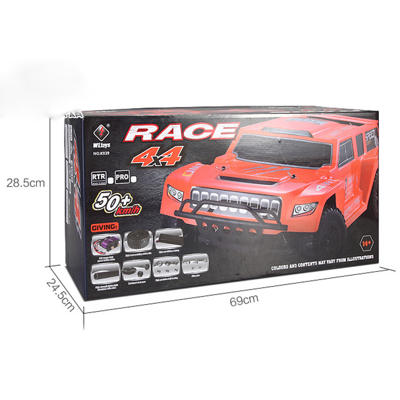 Wltoys K939 1/10 RC Car 4WD 2.4G Electric RC Short Course RTR Toy Car