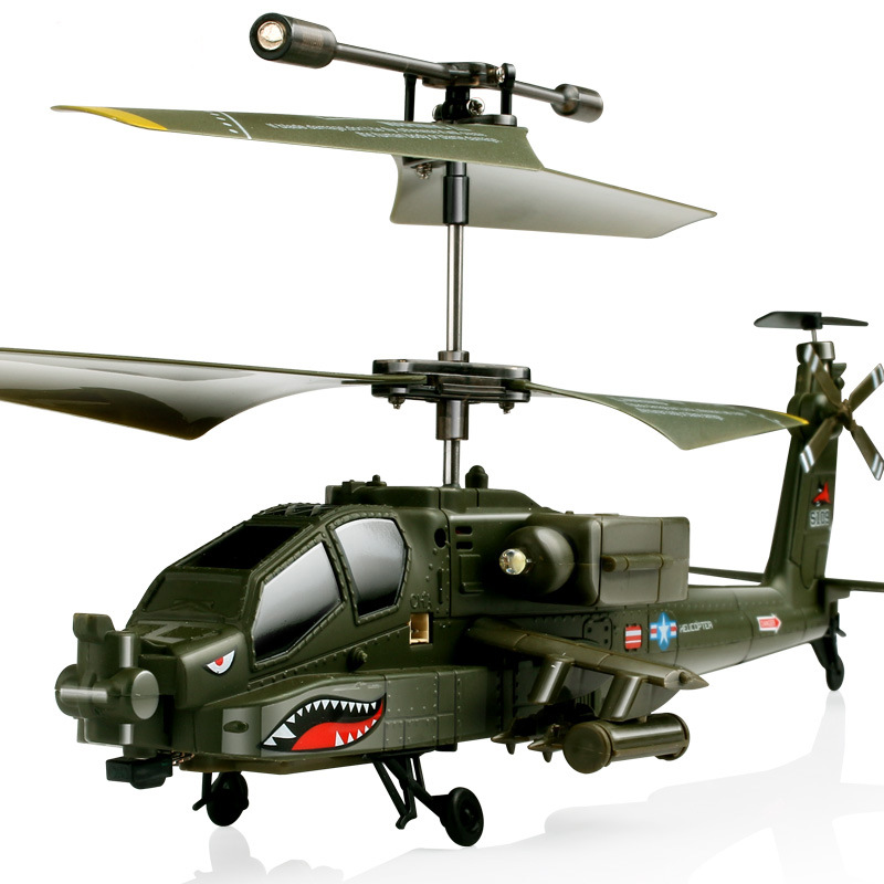 3 Channel Syma S109G Remote Control Helicopter AH-64 RC Helicopter For Children Adult Gift Military Simulation Toys