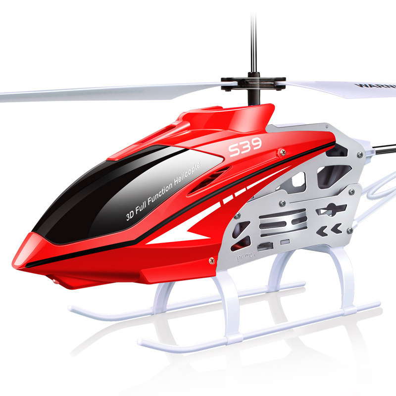 Syma S39 2.4G 3CH RC Helicopter with Gyro LED Lights Anti-Shock Remote 100M Control Kids Toys